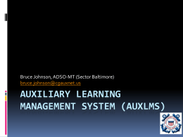 About AuxLMS - Sector Baltimore