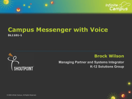 Campus Messenger with Voice - K