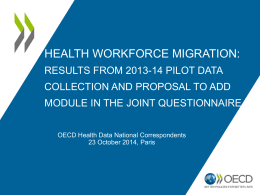 Brief on OECD pilot data collection on HWF mobility