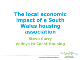 The local economic impact of South Wales housing