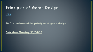 """The Principles of Game Design""."