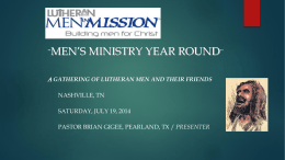 Planing a Year-Round Ministry for Men