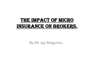 the impact of micro insurance on brokers. pros