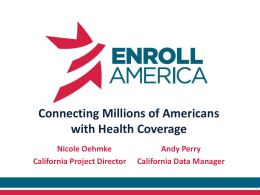 Get Covered Database CCHI Presentation 3.10.14