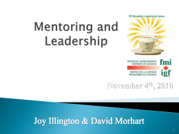 Mentoring and Leadership