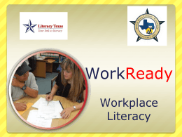 WorkReady PowerPoint - the South Texas Literacy
