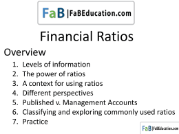 Exercise 4 – Ratios - FAB