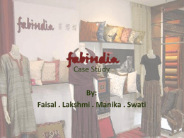 Fab India - finishingschool