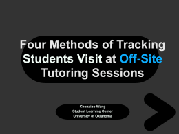 Four Methods of Tracking Students Visit at Off