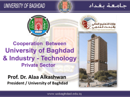 Cooperation Between University of Baghdad