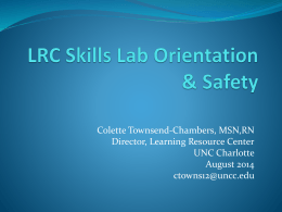 LRC Skills Lab Safety