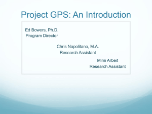 Project GPS: An Introduction - Step-It-Up-2