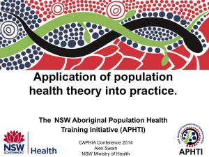 Application of population health theory into practice