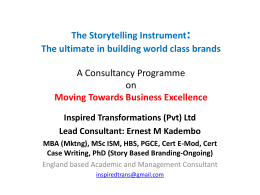 The Storytelling Approach - Inspired Transformations Ltd