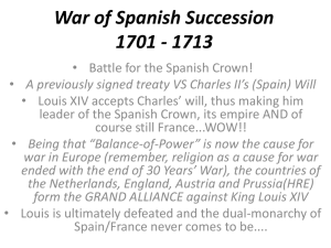 War of Spanish Succession 1701