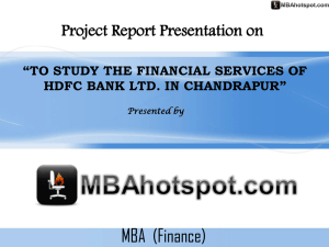 PowerPoint Template - MBA Project Reports l Samlpe