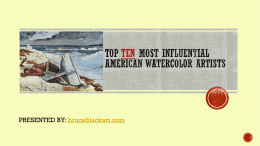 Top Ten most influential American watercolor artists