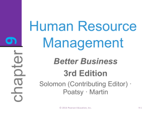 Human Resource Mgt (HRM)
