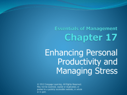 17. Enhancing Personal Productivity and Managing Stress.