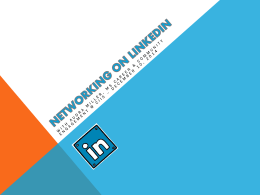 Networking on Linkedin - MyCIIS - California Institute of Integral