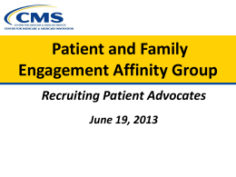 Patient & Family Advisors - NYS Partnership for Patients