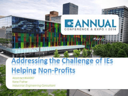 Addressing the Challenge of IEs Helping Non-Profits - X