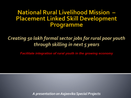 Presentation made by National Mission Management