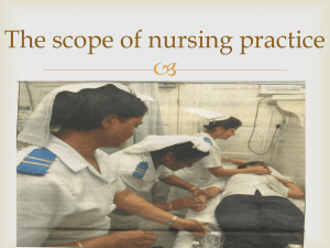 SCOPE OF PRACTICE - Nursing Council of Mauritius