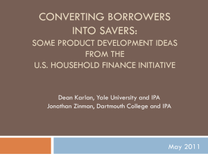 Borrow Less Tomorrow A behavioral Approach to Debt Reduction
