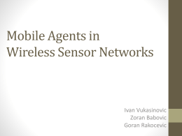 Mobile Agents in Wireless Sensor Networks (Vukasinovic