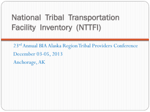 IRR BRIEFING - 24th Annual BIA Tribal Providers Conference