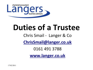 Understanding the Duties of a Trustee