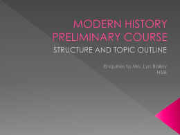 MODERN HISTORY PRELIMINARY COURSE