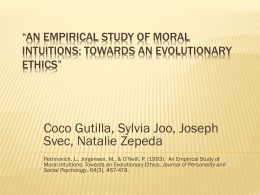 An Empirical Study of Moral Intuitions: Towards an