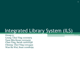 System flow of Millennium library system