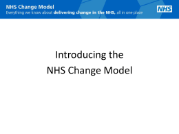 Introducing the NHS Change Model