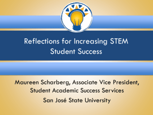 Reflections for Increasing STEM Student Success