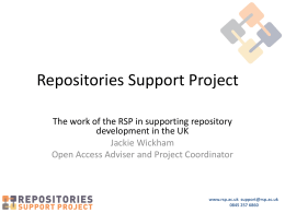 The Repositories Support Project