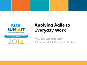 Applying AGILE to Everyday Work PPT Only
