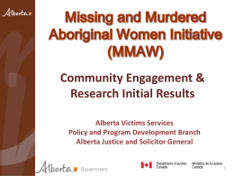 Missing and Murdered Aboriginal Women Initiative