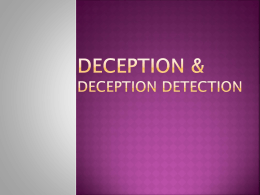 Deception and Deception Detection