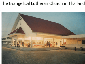 The Evangelical Lutheran Church in Thailand – PPT File