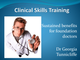 Clinical Skills training offers sustained benefits for