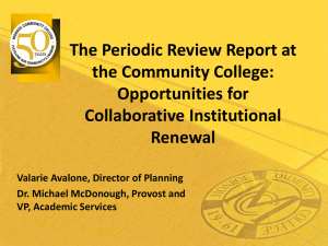 Opportunities for Collaborative Institutional Renewal