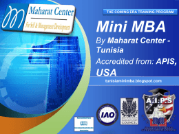 PowerPoint Template - Mini MBA at Maharat Center
