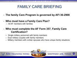 Family Care Brief Example (new window)