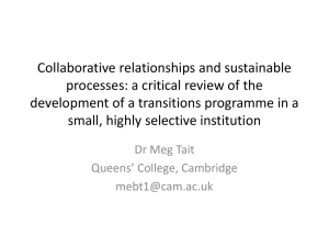 Collaborative relationships and sustainable processes: a critical