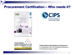 Certification….Who needs it? By Mr. Marco Sosted