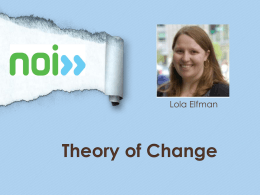 Theory of Change - New Organizing Institute