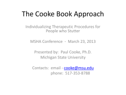 The Cooke Book Approach - Michigan Speech-Language